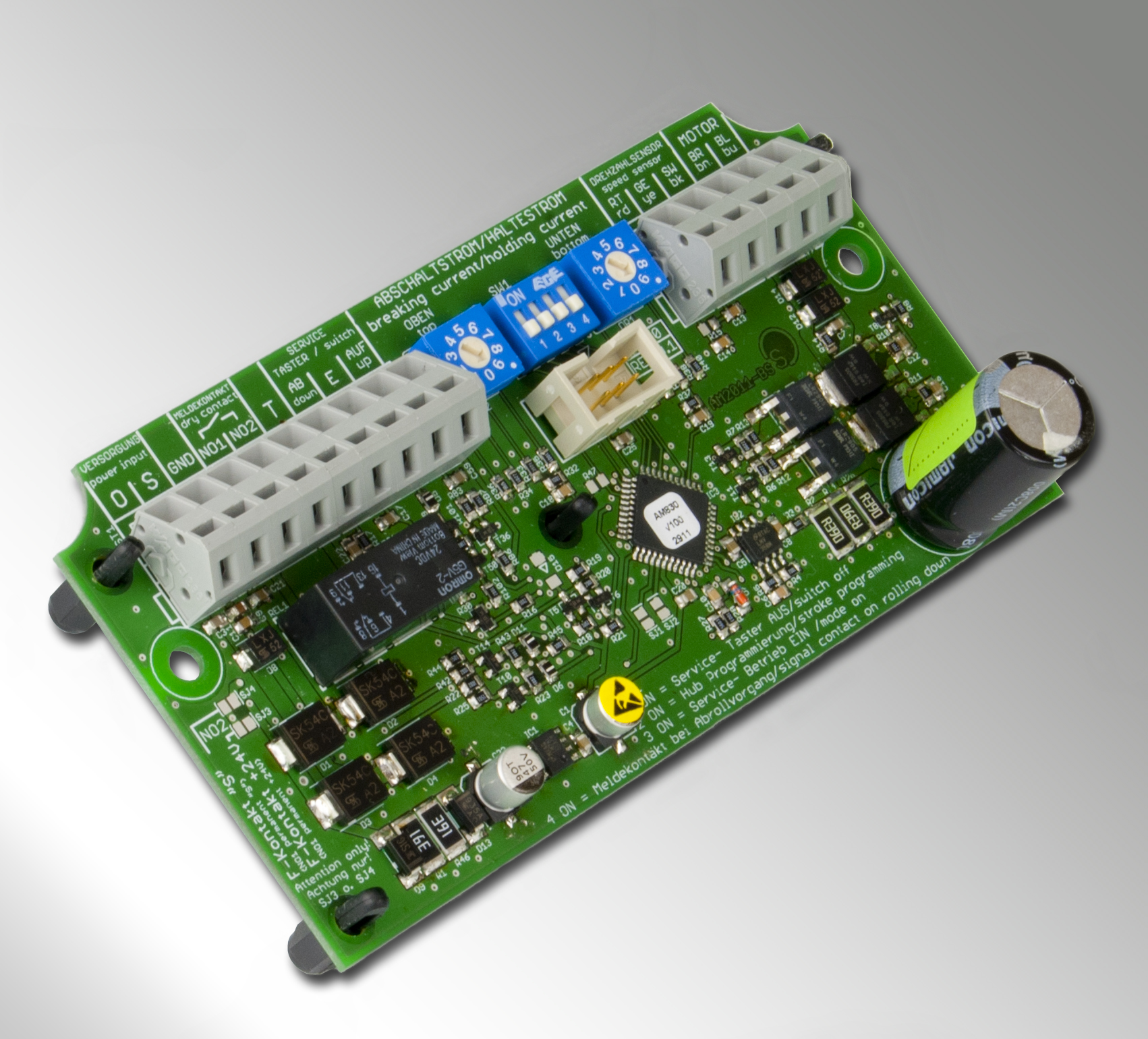 Neue Steuerelektronik AM-830 für Vorhangsysteme Smoke PROtec® und Fire PROtec®